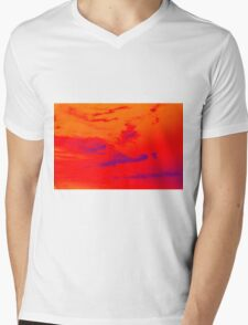 Pyschedelic Sky Colors Mens V-Neck T-Shirt