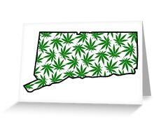 Connecticut (CT) Weed Leaf Pattern Greeting Card