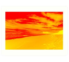 Psychedelic Beach Sunset Art Print
