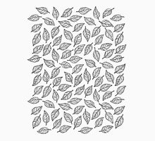 Light Leaf Pattern - Grey Unisex T-Shirt