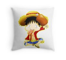 Luffy Chibi Throw Pillow