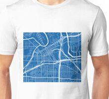 Fort Worth Map - Deep Blue Unisex T-Shirt