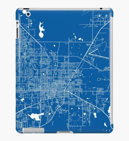 Gainesville Map - Deep Blue iPad Case/Skin