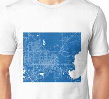 Gainesville Map - Deep Blue Unisex T-Shirt