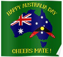 Australia Day with Boomerang Poster
