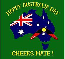 Australia Day with Boomerang Photographic Print