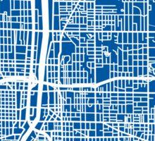 Grand Rapids Map - Deep Blue Sticker