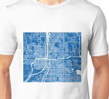 Grand Rapids Map - Deep Blue Unisex T-Shirt
