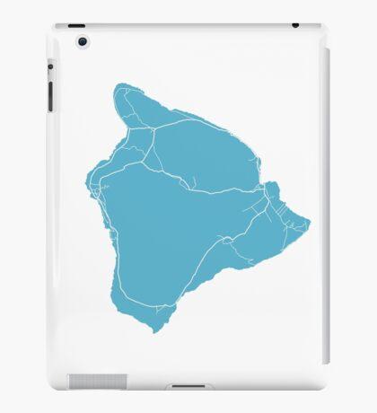 Hawaii Island Map - Baby Blue iPad Case/Skin