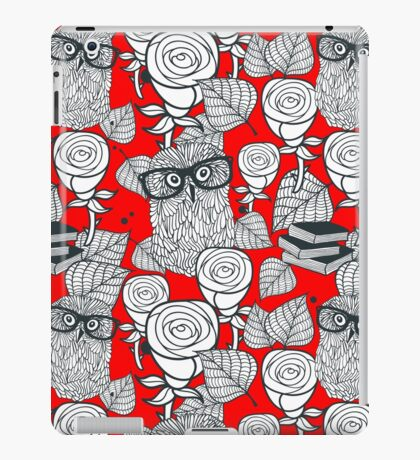 White roses and owls iPad Case/Skin