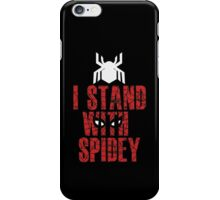 I Stand With Team Spidey - New Spiderman Logo iPhone Case/Skin