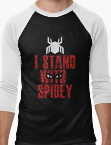 I Stand With Team Spidey - New Spiderman Logo Men's Baseball ¾ T-Shirt
