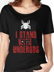 I Stand with Team Underoos - New Spiderman Logo Women's Relaxed Fit T-Shirt