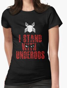 I Stand with Team Underoos - New Spiderman Logo Womens Fitted T-Shirt