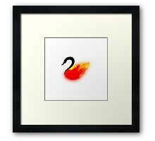 Once Upon a Swanfire Framed Print