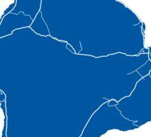 Hawaii Island Map - Deep Blue Sticker