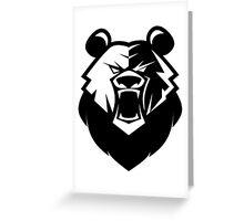 Black bear logotype Greeting Card