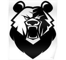 Black bear logotype Poster
