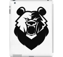 Black bear logotype iPad Case/Skin
