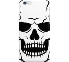Black skull. Very DANGER! iPhone Case/Skin