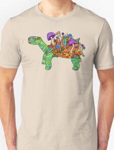 Rainbow Mushroom Tortoise  Unisex T-Shirt