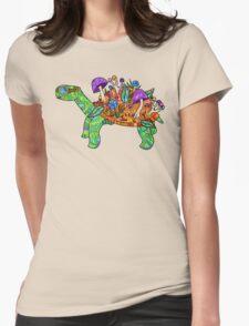 Rainbow Mushroom Tortoise  Womens Fitted T-Shirt