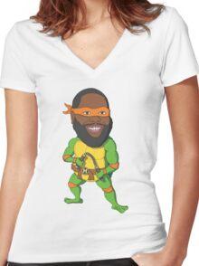 Killer Mikey Women's Fitted V-Neck T-Shirt