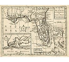 American Revolutionary War Era Maps 1750-1786 103 A map of the new governments of East & West Florida Photographic Print
