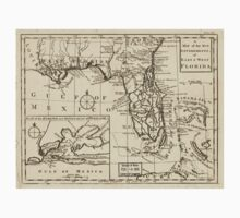 American Revolutionary War Era Maps 1750-1786 103 A map of the new governments of East & West Florida Kids Tee