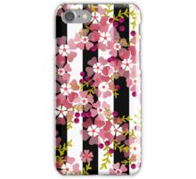 Seamless floral pattern striped background iPhone Case/Skin