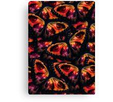 Orange eyed butterfly pattern Canvas Print