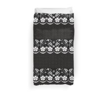 Seamless geometric lace elements pattern illustration ornamental pattern Duvet Cover