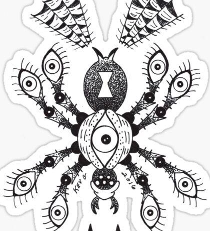 Spider Eyes White Sticker
