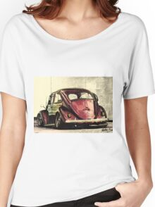 Vintage Cherry Red Women's Relaxed Fit T-Shirt