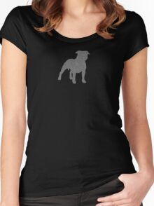 Staffordshire Bull Terrier 2 Women's Fitted Scoop T-Shirt