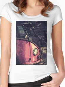 Vintage Graphic Women's Fitted Scoop T-Shirt