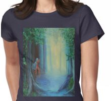 In The Faery Forest Womens Fitted T-Shirt