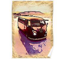 Vintage Sand Dune Poster
