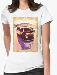 Vintage Sand Dune Womens Fitted T-Shirt