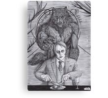 Werewolf gourmet Canvas Print