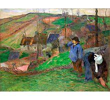 1888 - Gauguin - Landscape of Brittany Photographic Print
