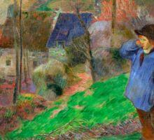 1888 - Gauguin - Landscape of Brittany Sticker