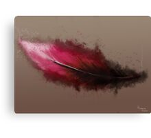 The red feather fall Canvas Print
