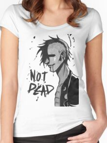 Punk Not Dead Women's Fitted Scoop T-Shirt