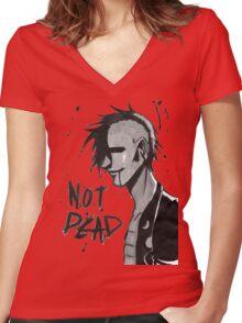 Punk Not Dead Women's Fitted V-Neck T-Shirt