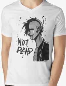 Punk Not Dead Mens V-Neck T-Shirt