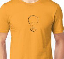 Line Art of Lightbulb Unisex T-Shirt