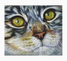 Blink Macro Cat Painting One Piece - Short Sleeve