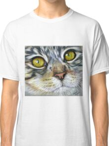 Blink Macro Cat Painting Classic T-Shirt