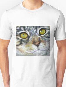 Blink Macro Cat Painting T-Shirt